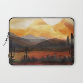 Desert in the Golden Sun Glow Laptop Sleeve
