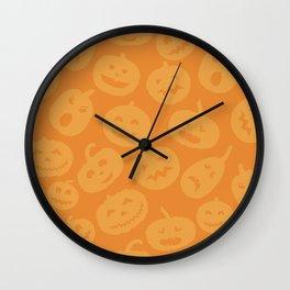 Orange Jack-O-Lanterns Wall Clock