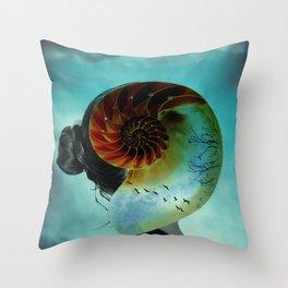 CARACOLA, versión mediterránea Throw Pillow
