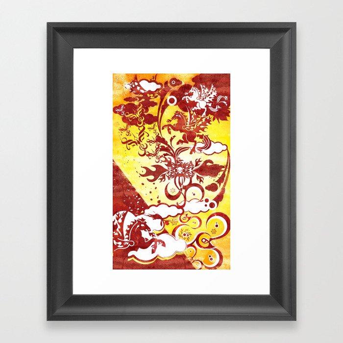 Heavenly Escort Framed Art Print