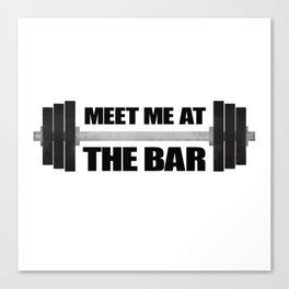 Meet Me At The Bar Canvas Print