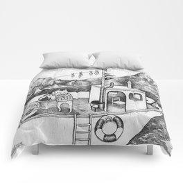 Fox on Fishing-boat Comforters