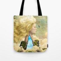 aurora Tote Bags featuring Aurora by Diogo Verissimo