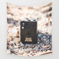 vintage camera Wall Tapestries featuring Vintage Camera by Novella Photography