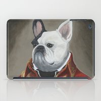 marc johns iPad Cases featuring Marc-Antoine Bouledogue by William Joseph Speer