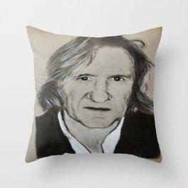 Gerard Depardieu Throw Pillow