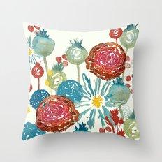 Wildflower Desert Throw Pillow