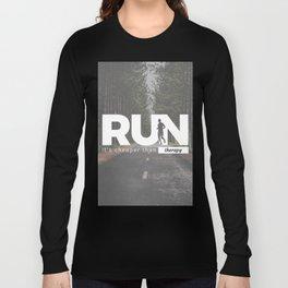 Run Cheaper Than Therapy Running Runners Treatment Long Sleeve T-shirt