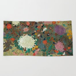 flower【Japanese painting】 Beach Towel