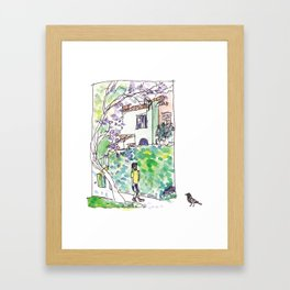 An Afternoon Walk Framed Art Print
