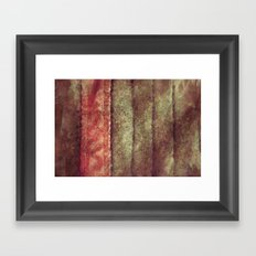 Bookmark Leather Framed Art Print