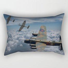 Lancaster Bomber and Spitfires Rectangular Pillow