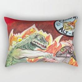 Godzilla vs The Nazis Rectangular Pillow