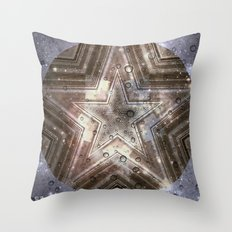 Hollywood Star with water drops Throw Pillow