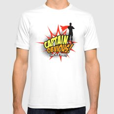Captain Obvious t-shirt MEDIUM Mens Fitted Tee White