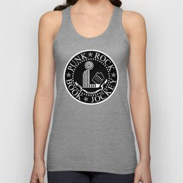 Punk Rock Book Jockey Black Logo Unisex Tank Top