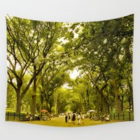 central park Wall Tapestries featuring Central Park NYC by amberino