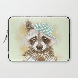 Rocco Raccoon - earth tones Laptop Sleeve