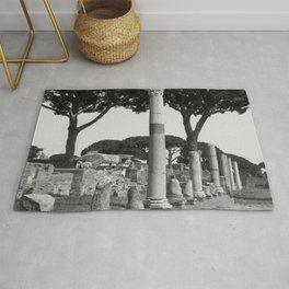 Ostia ruins Rome Italy Rug