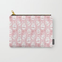 Easter Egg Bunny Pattern - Pink Carry-All Pouch