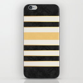 Marble stripes iPhone Skin