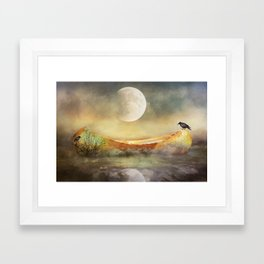 By the Light of the Crow Moon Framed Art Print