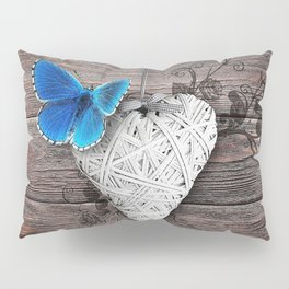 Heart & butterfly | coeur et papillon Pillow Sham