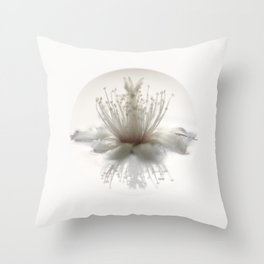 floating into the light Throw Pillow