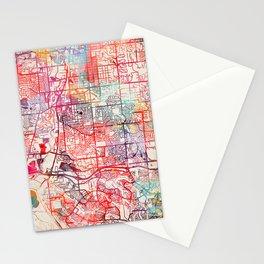 Littleton map Colorado CO Stationery Cards