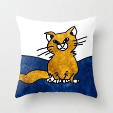 Grumpy Cat - Sketch to Digital Throw Pillow