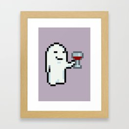Wine Drinking Ghost - Mother 3 Framed Art Print