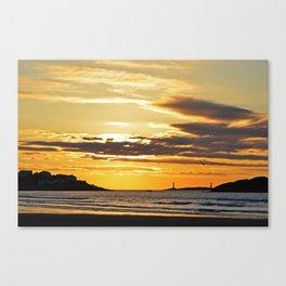 Good Harbor Lighthouses at Sunrise Canvas Print