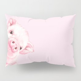 Sneaky Baby Pink Pig Pillow Sham