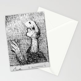 """Questions"" ~ Pen and Ink Sketchbook Drawing Stationery Cards"