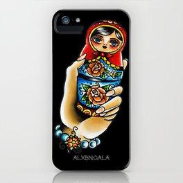 Hand Holding Matryoshka iPhone Case