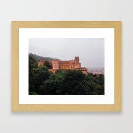 Heidelberg Castle in Germany. Framed Art Print