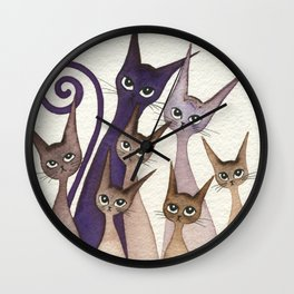 Phoenix Whimsical Cats Wall Clock