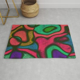 Colorful Abstract Art Rug