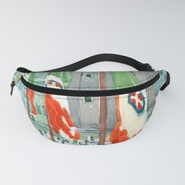 Piazza di San Marco by Maurice Prendergast Fanny Pack