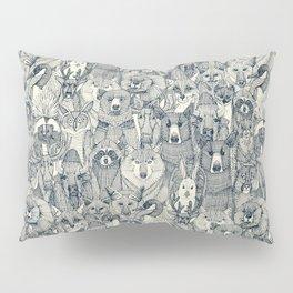 canadian animals indigo pearl Pillow Sham