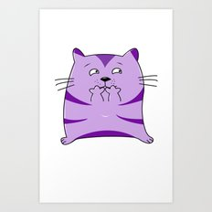 Fraidy Cat Art Print