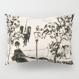 Notre-Dame, 1866 Illustration Pillow Sham