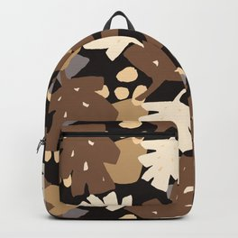 Oriental Pattern - Brown Chunky Cone Backpack