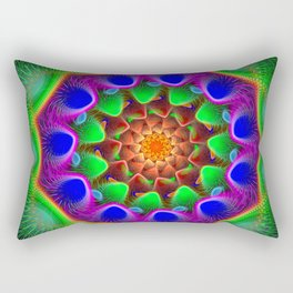 Color swing, fractal abstract pattern Rectangular Pillow