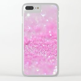 Sparkling Baby Girl Pink Glitter Effect Clear iPhone Case