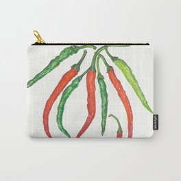 Watercolor Hot Peppers Carry-All Pouch