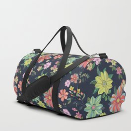 Dramatic Floral Pattern Duffle Bag