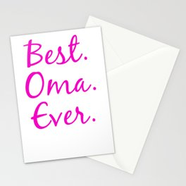 Best Oma Ever t shirt Stationery Cards