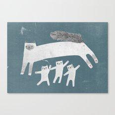 Cat Family of sacred birman Canvas Print