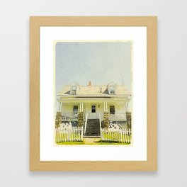 Pemaquid Point Lightkeepers House, Maine Framed Art Print